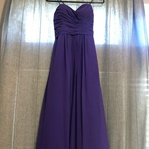 A-Line Sweetheart Bill Levkoff Bridesmaid Dress